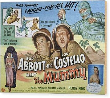 Abbott And Costello Meet The Mummy, Lou Wood Print by Everett
