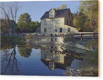 Abbotts Mill Wood Print by Brian Wallace