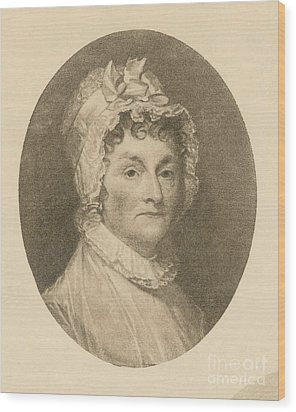 Abigail Adams Wood Print by Photo Researchers