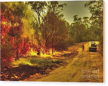 Ablaze Wood Print by Joanne Kocwin