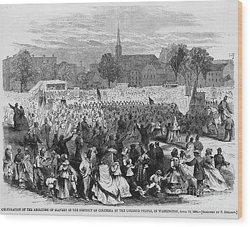 Abolition Of Slavery Wood Print by Photo Researchers