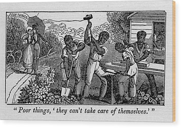Abolitionist Cartoon Satirizing Slave Wood Print by Everett