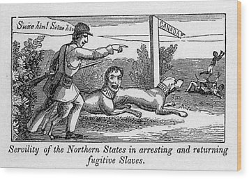 Abolitionist Political Cartoon Wood Print by Everett