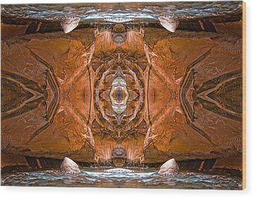 Aboriginal Abstraction Wood Print by Ed Kelley