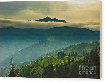 Above Clouds Wood Print by Syed Aqueel