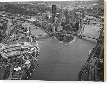 Above Pittsburgh  Wood Print by Emmanuel Panagiotakis