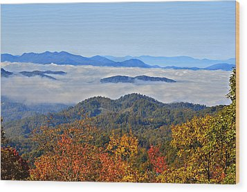 Above The Clouds Wood Print by Susan Leggett