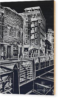 Above The River-walk Wood Print by Joe Finney