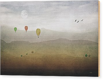 Above The Rolling Hills Wood Print by Tom York Images