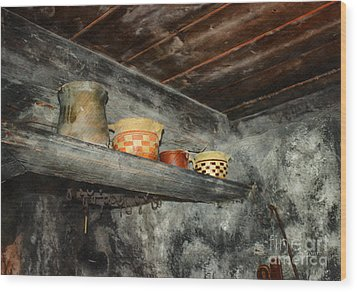 Above The Stove Wood Print by Jutta Maria Pusl