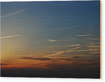 Above Us Only Sky Wood Print by Dean Harte