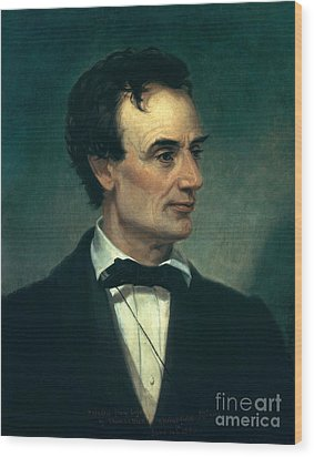Abraham Lincoln, 16th American President Wood Print by Photo Researchers, Inc.