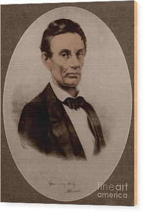 Abraham Lincoln, 16th American President Wood Print by Science Source