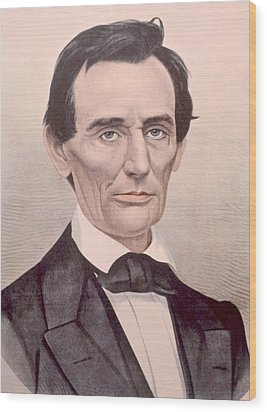 Abraham Lincoln 1808-1865, U.s Wood Print by Everett