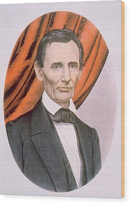 Abraham Lincoln 1809-1865, Lithograph Wood Print by Everett