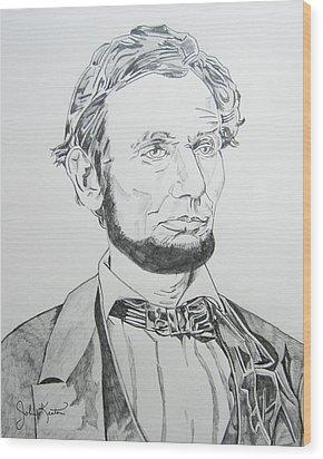 Abraham Lincoln Wood Print by John Keaton
