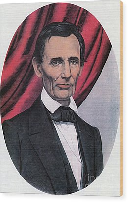 Abraham Lincoln, Republican Candidate Wood Print by Photo Researchers