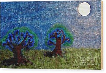 Abres De La Lune Wood Print by Ayasha Loya