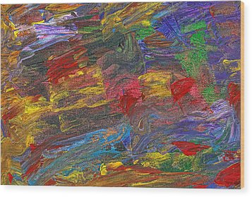 Abstract - Acrylic - Anger Joy Stability Wood Print by Mike Savad