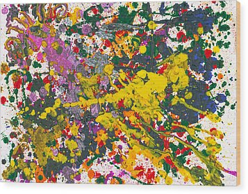 Abstract - Crayon - One Evening At The Diner Wood Print by Mike Savad