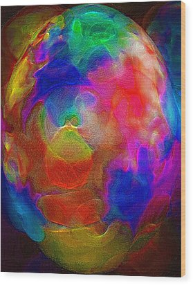 Abstract - The Egg Wood Print by Steve Ohlsen