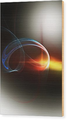 Abstract 101311c Wood Print by David Lane