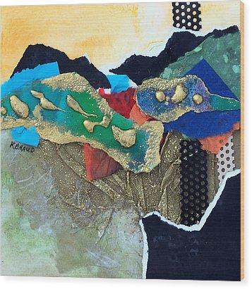 Abstract 2011 No.1 Wood Print by Kathy Braud