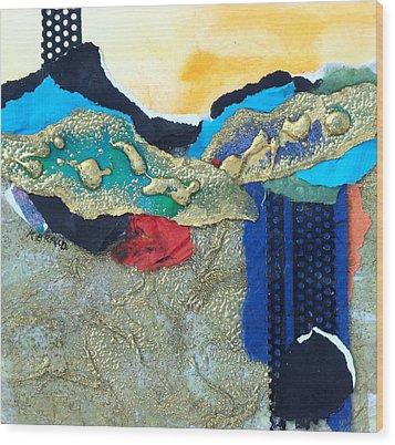 Abstract 2011 No.2  Wood Print by Kathy Braud