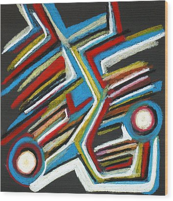 Abstract 3 Wood Print by Sandra Conceicao