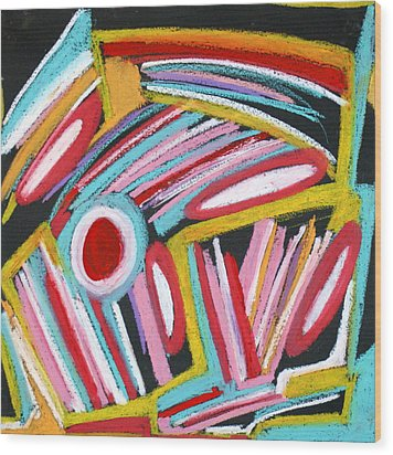 Abstract 4 Wood Print by Sandra Conceicao