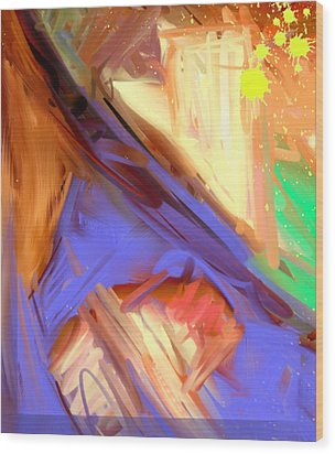 Abstract 4 Wood Print by Snake Jagger