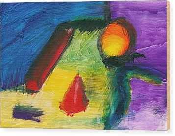 Abstract - Acrylic - Primitives Wood Print by Mike Savad