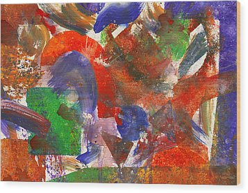 Abstract - Acrylic - Synthesis Wood Print by Mike Savad