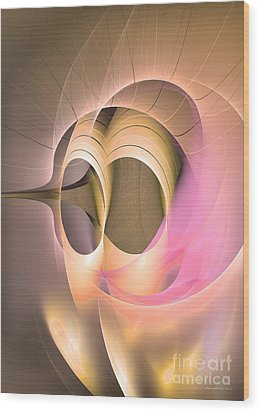Abstract Art - Dies Laetitiae Wood Print by Abstract art prints by Sipo
