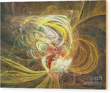 Abstract Art - In Full Bloom Wood Print by Abstract art prints by Sipo
