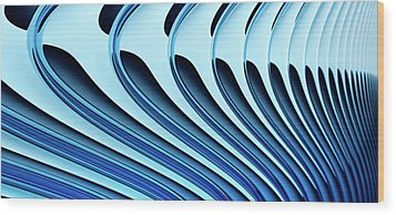 Abstract Curved Lines, Diminishing Perspective Wood Print by Ralf Hiemisch