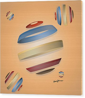 Abstract Design 9 Wood Print by Anthony Caruso