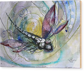 Abstract Dragonfly 11 Wood Print by J Vincent Scarpace