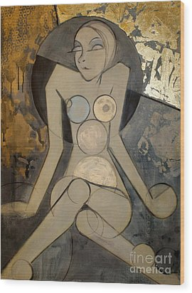 Abstract Female Nude 2 Wood Print