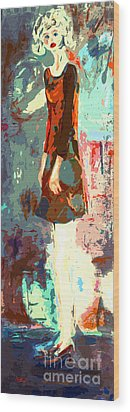 Abstract Figure The Odd Girl By Ginette Wood Print by Ginette Callaway