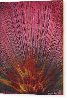 Abstract Flash 1.2 Wood Print