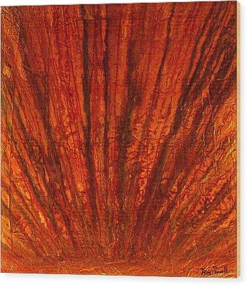 Abstract Flash 2.2 Wood Print