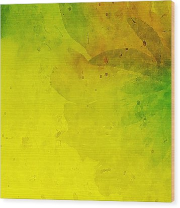 Abstract Floral Wood Print by Bonnie Bruno