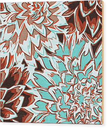 Abstract Flower 17 Wood Print by Sumit Mehndiratta