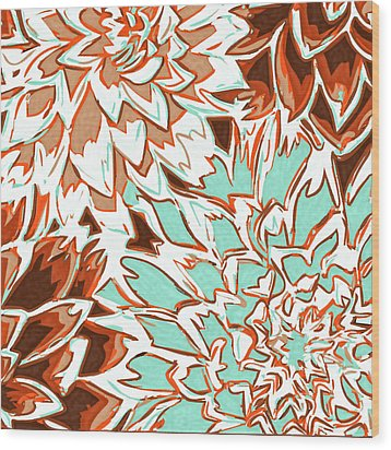 Abstract Flowers 12 Wood Print by Sumit Mehndiratta