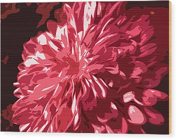 Abstract Flowers Wood Print by Sumit Mehndiratta