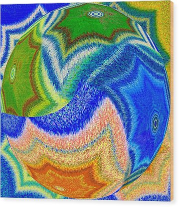 Abstract Fusion 155 Wood Print by Will Borden