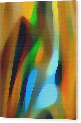 Abstract Garden Light Wood Print by Amy Vangsgard