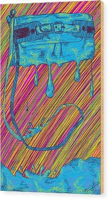 Abstract Handbag Drips Color Wood Print by Kenal Louis