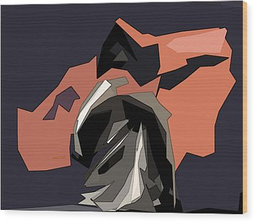 Abstract He Comes For Me Wood Print by David Dehner